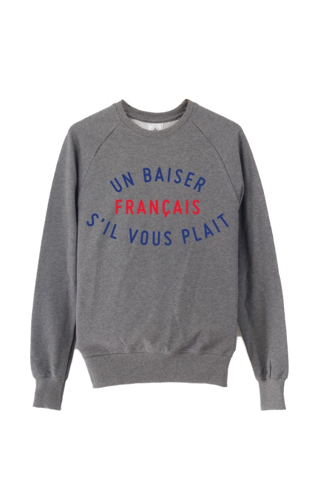 FrenchKiss - Sweat Gris - copie