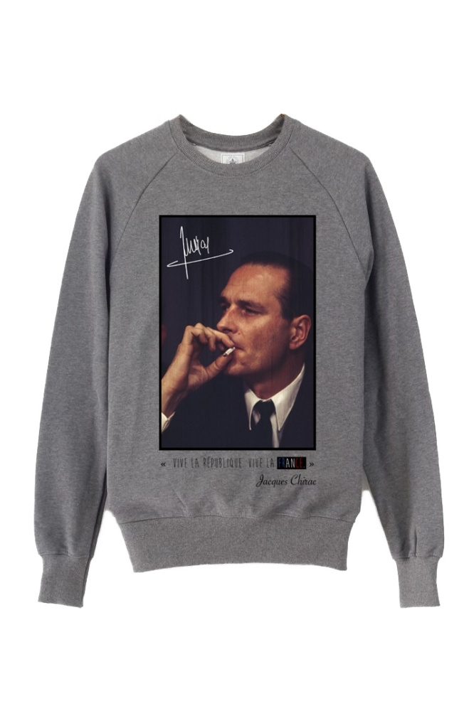 Sweat Vive La France - gris - copie