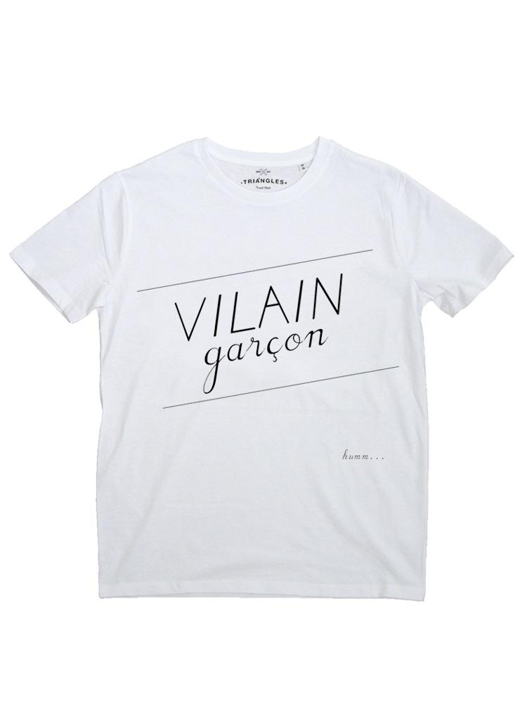 tshirt Blanc Vilain Garcon  - copie