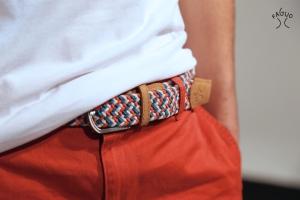 HOMME-ceinture tricolor+logo