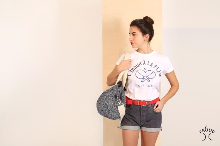 FEMME-teeshirt+duffle mer+logo