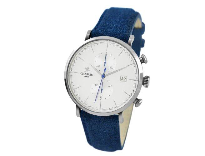 Montre_Chronographe_-_Charlie_Watch_-_Acier_Blanc_-_Sue_udine_bleu_1024x1024