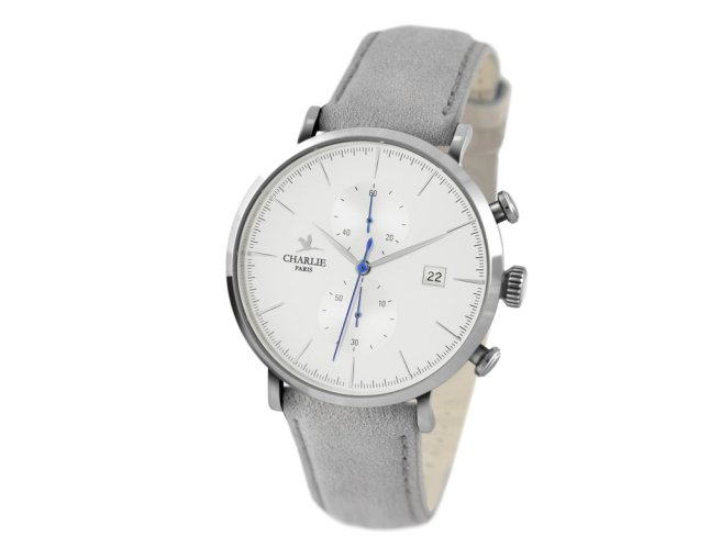 Montre_Chronographe_-_Charlie_Watch_-_Acier_Blanc_-_Sue_udine_gris_1024x1024